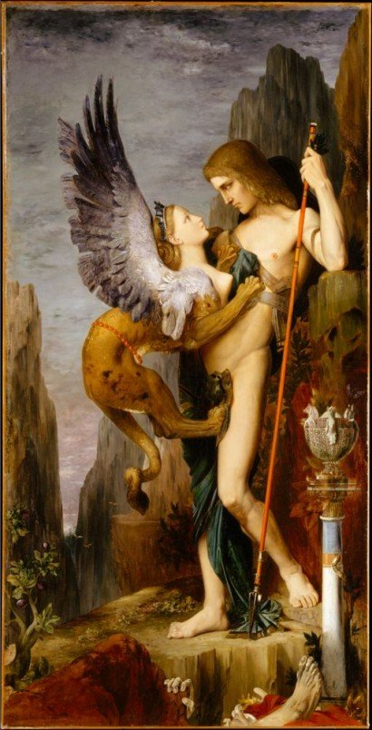 Édipo e a Esfinge. Gustave Moreau, 1864.